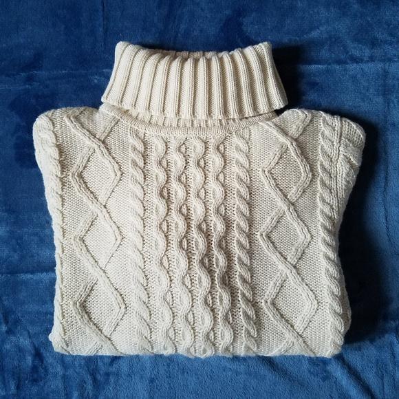 50a8d92dec L.L. Bean Sweaters - L.L. Bean Wool-Blend Fisherman Turtleneck Sweater